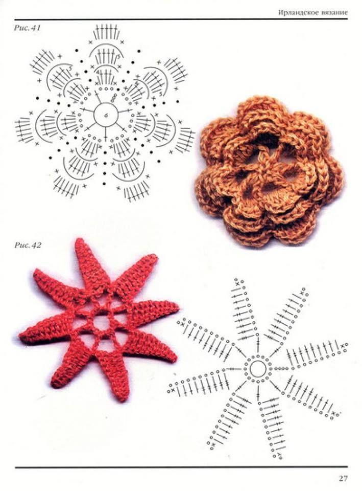 Muchos patrones de flores en crochet   Patrones crochet   flores en ...