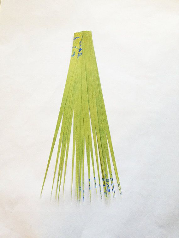 Green Paper Strips for Paper Beads PreCut by GroundZeroCreations
