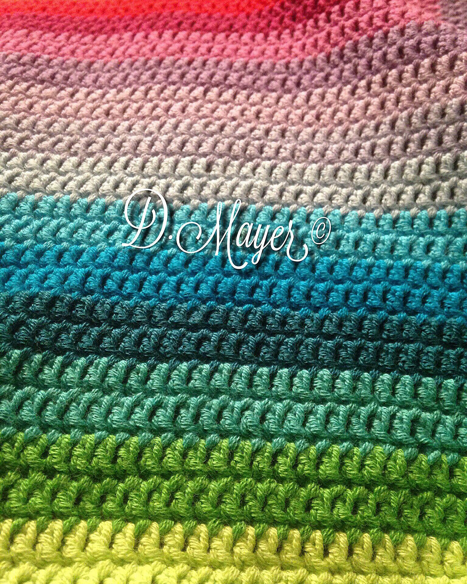 D.Mayer © Babydecke \\ Regenbogen \\ häkeln | 4+1 Geburtstag | Pinterest