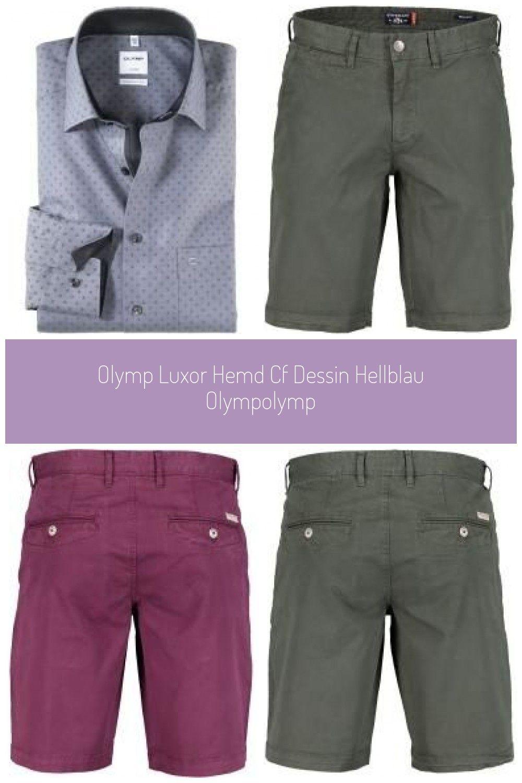 Olymp Luxor Hemd, comfort fit, New Kent, Grau, 44 Olympolymp #fitness art Olymp Luxor Hemd Cf Dessin...