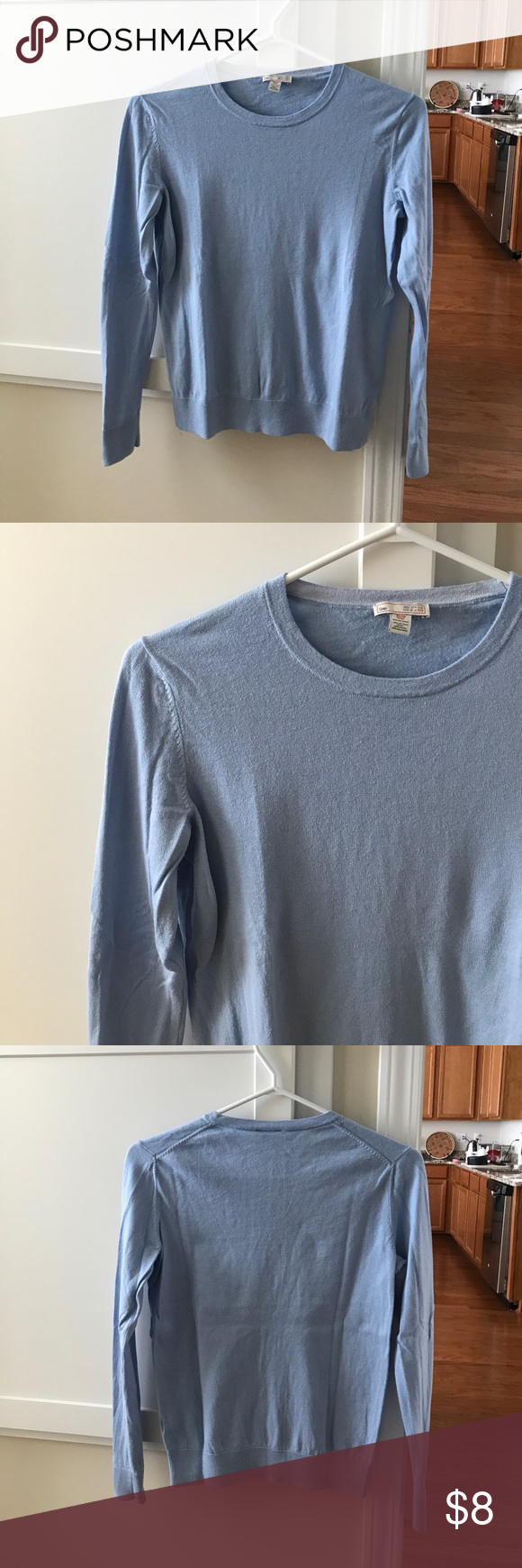 GAP blue sweater, XS GAP blue sweater, XS. 70% cotton/20% nylon/10 ...