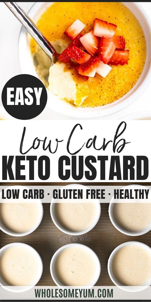 Easy Low Carb Keto Custard Recipe