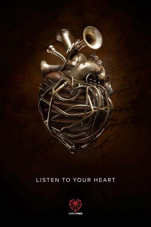 Amicomed: Listen to your heart poster | hearts | Pinterest ...