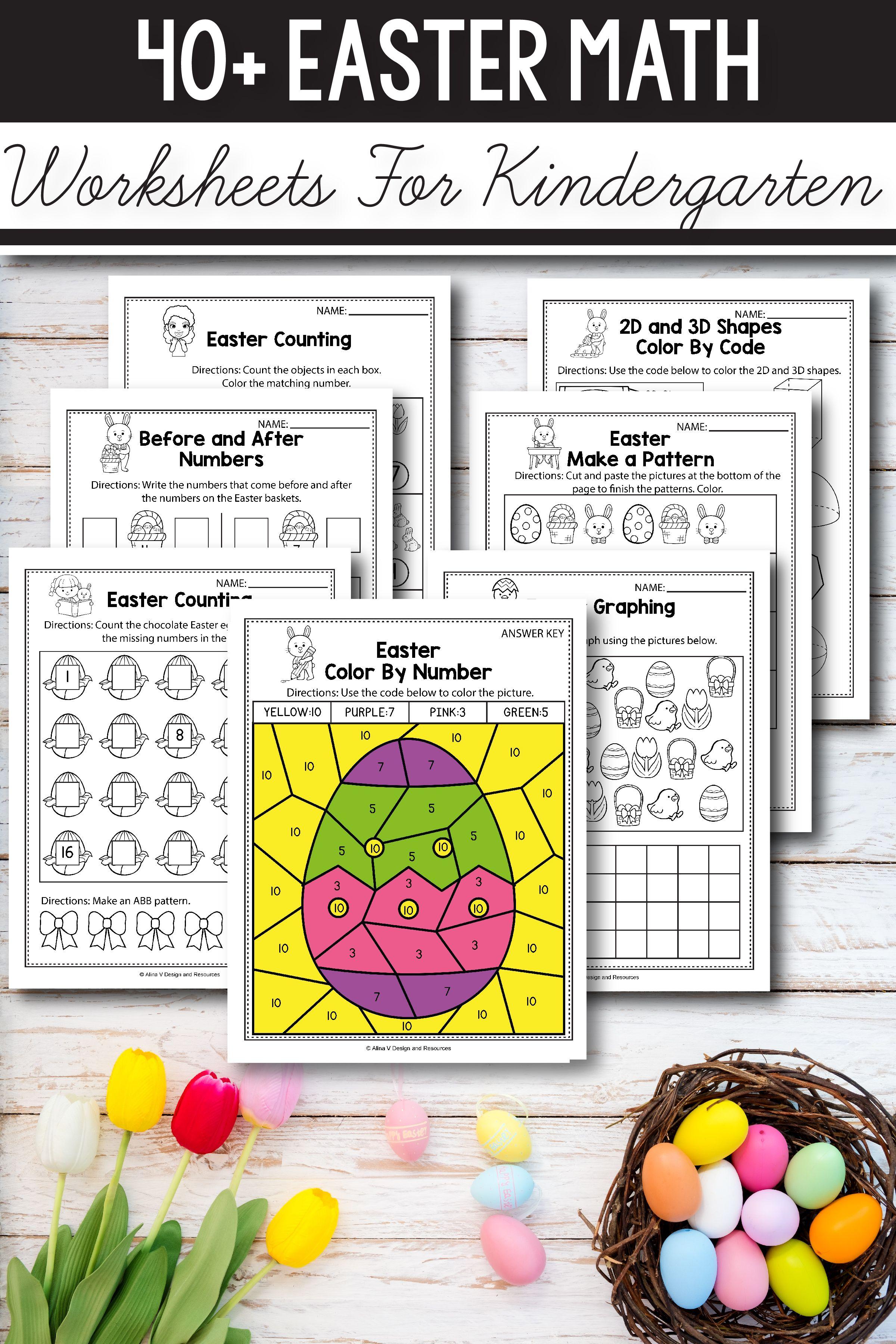 Easter Math Activities For Kindergarten Preschool And First Grade Th Kindergarten Easter Math Worksheets Kindergarten Math Activities Kindergarten Activities [ 3600 x 2400 Pixel ]