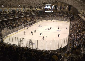 Yost Ice Arena Sorry To Say The Only Time I Was Here The Spartans Lost Sports Arena Michigan Hockey Go Blue