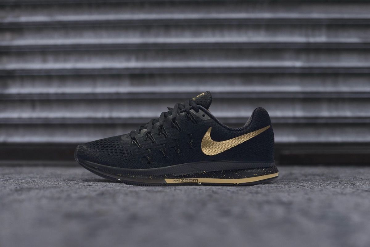 Nike Black and Gold Pack | Black nikes, Black, gold sneakers