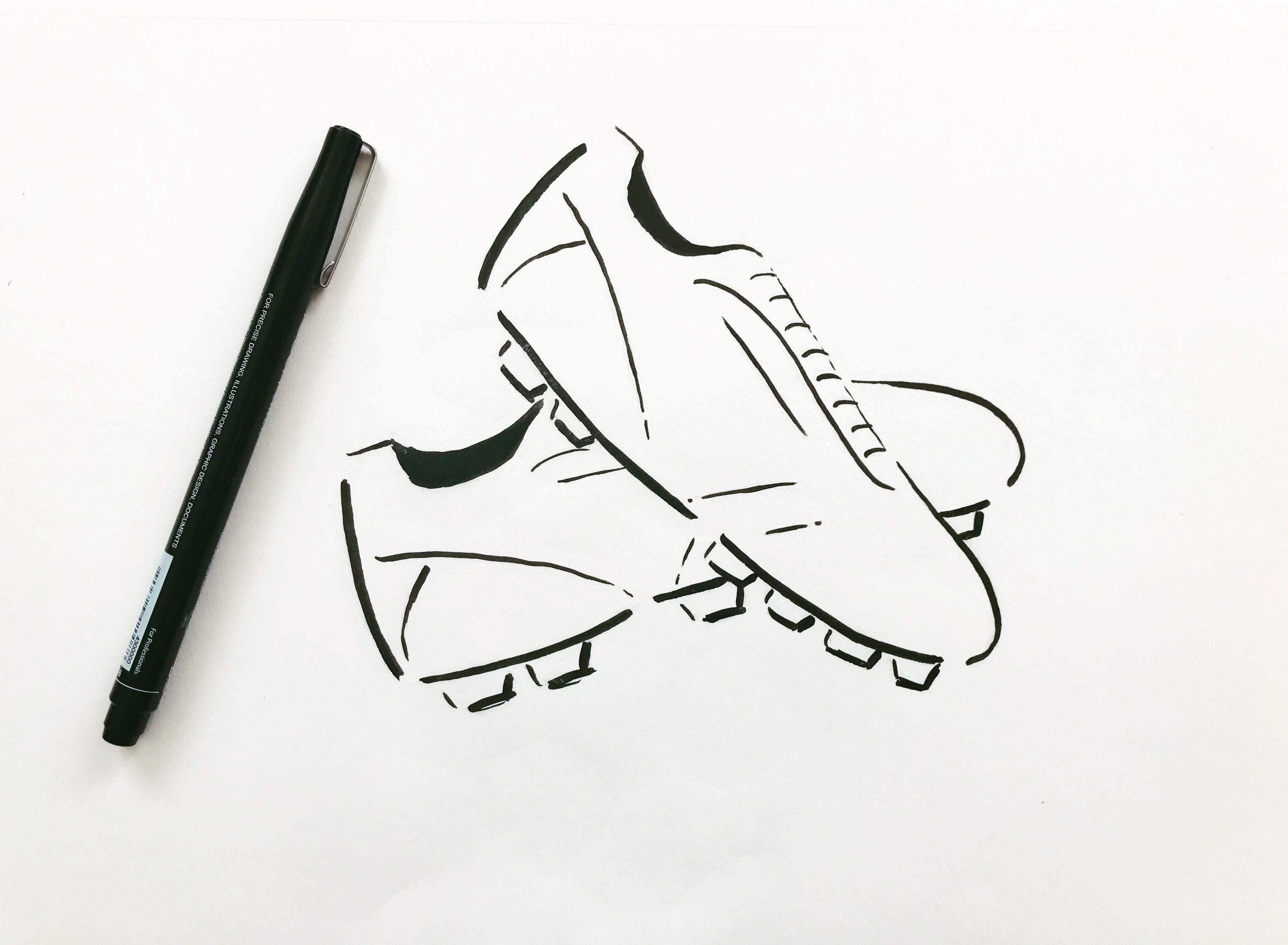 Fussball Fussballschuhe Sketch Illustration Logodesign