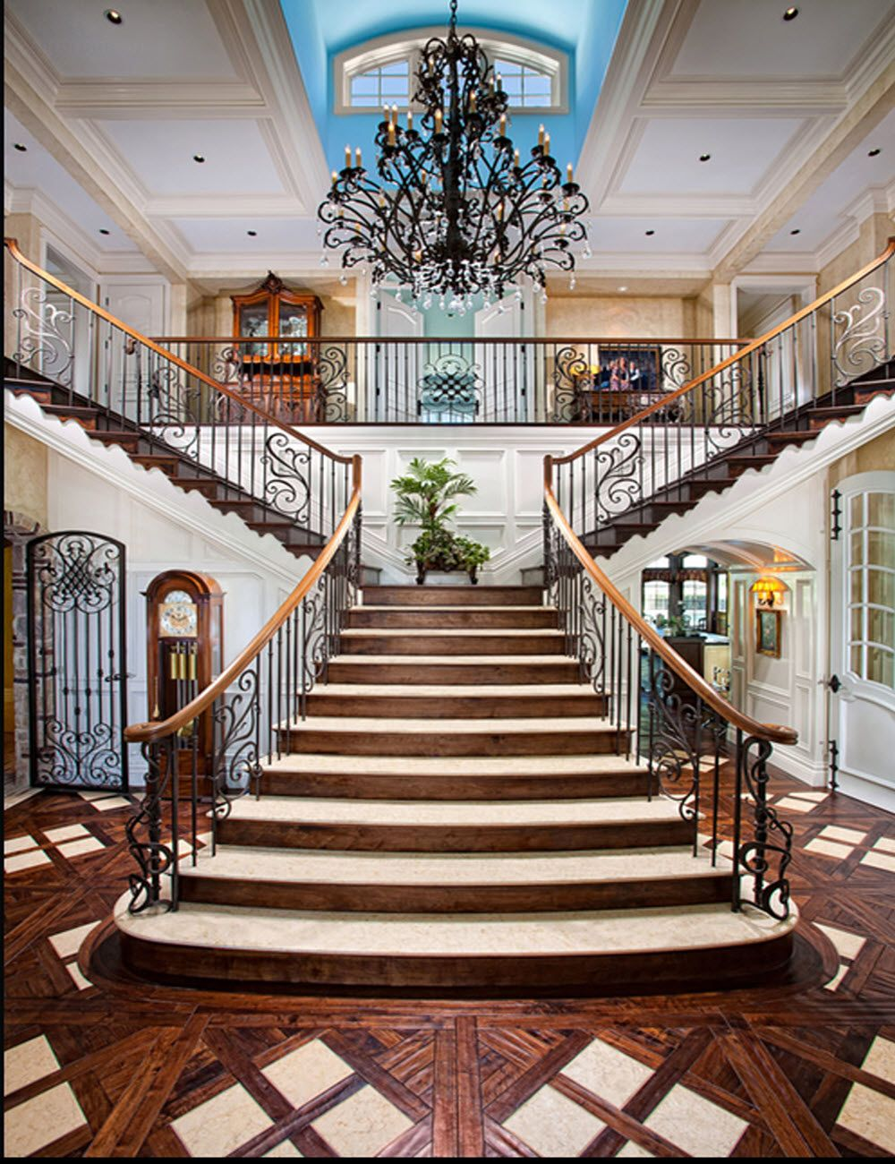 grand entryway With images   Staircase design, Stairs ...