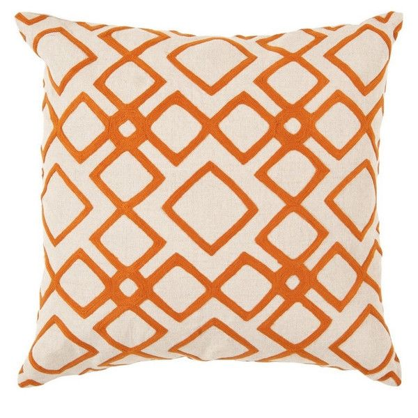 Decorative Rothwell 18-inch Trellis Pillow Cover ($36) ❤ liked on Polyvore featuring home, home decor, throw pillows and trellis throw pillow