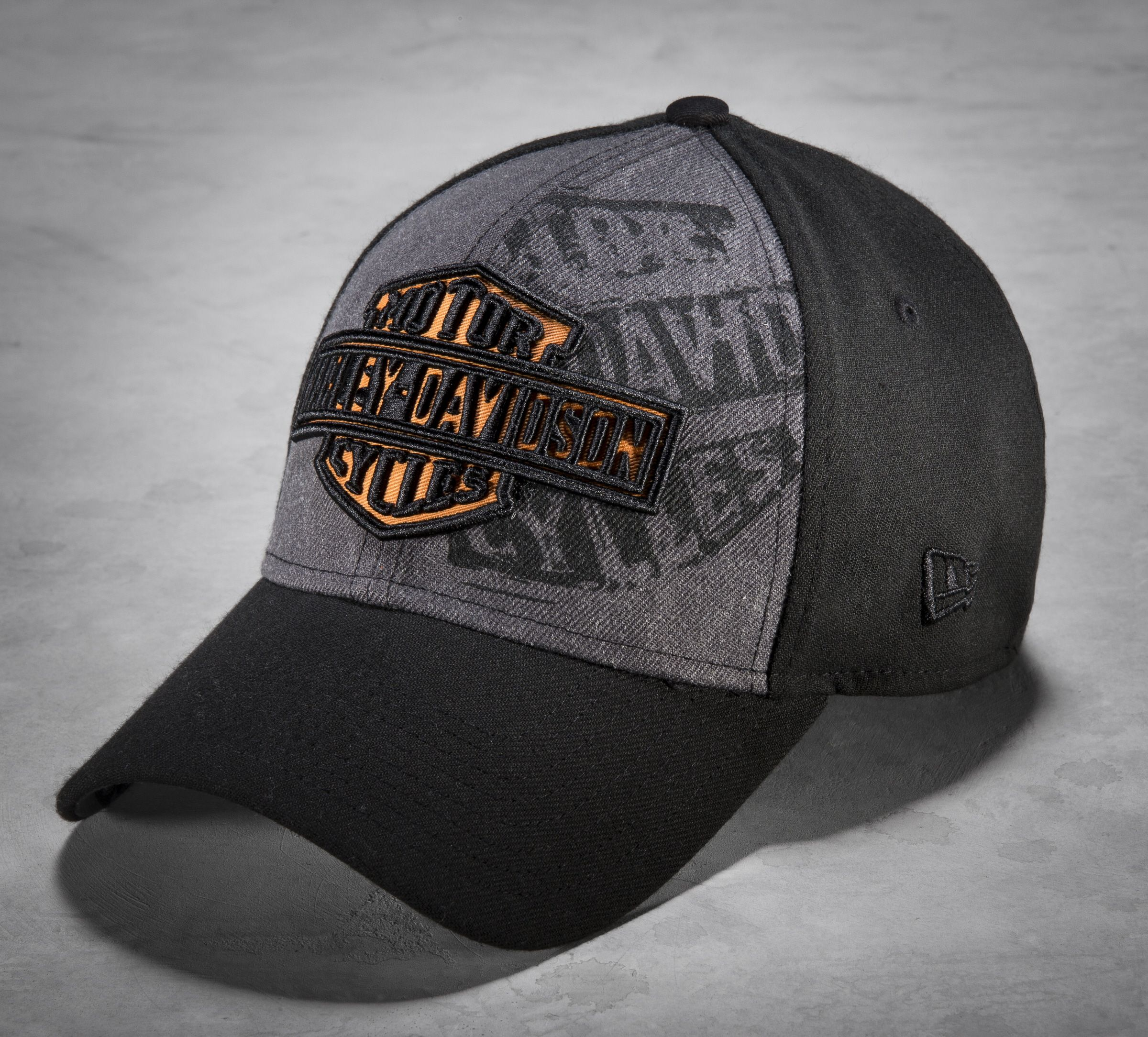 b511918ebe175 Contrasting panels and the combo print embroidery on front elevate the  style on this new men s baseball cap.