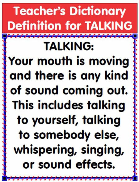 "Hilarious...Love This!!! May solve the ""I wasn't talking"" comment."