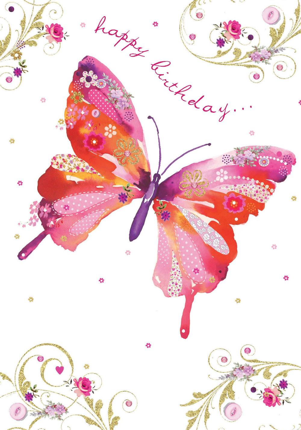 Днем, поздравления с днем рождения открытки с бабочками