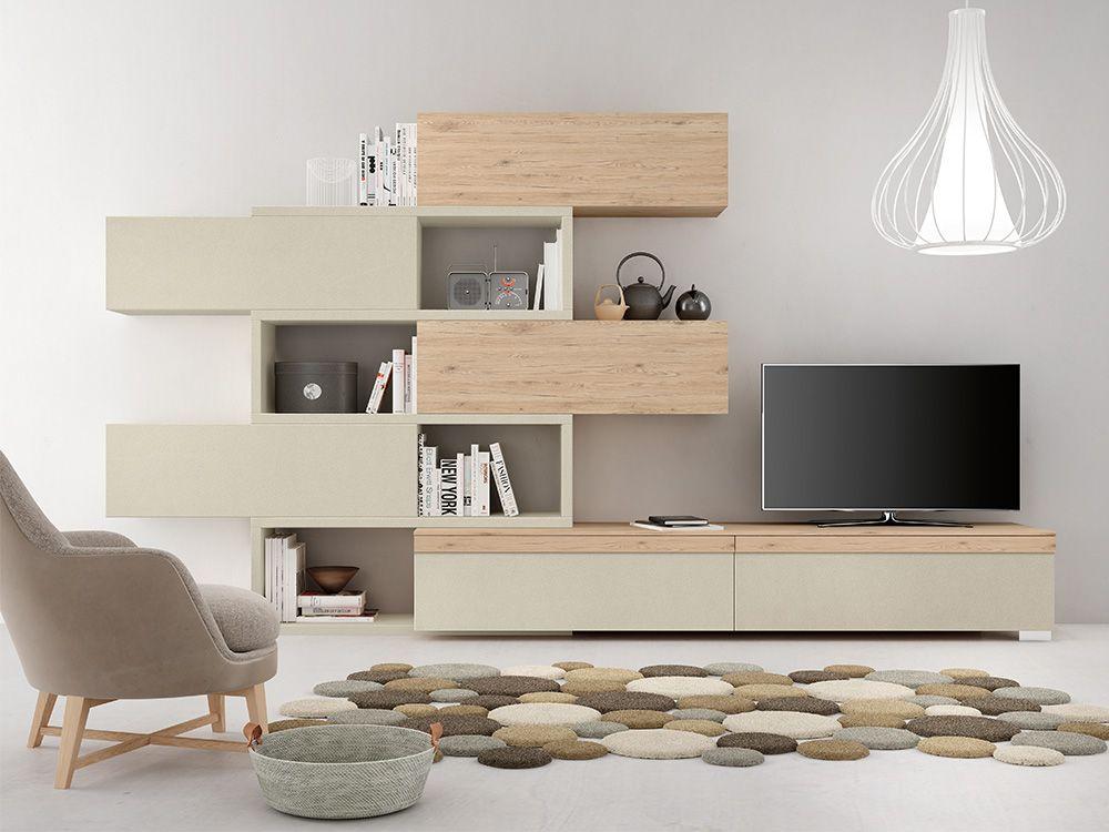Componibili Soggiorno ~ Soggiorno moderno con libreria completamente personalizzabile e