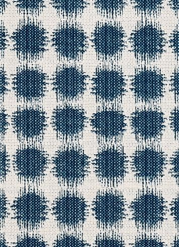 "Sabine 52 Cabana Blue - Jennifer Adams Home Fabric - Jacquard ikat dot fabric. Beautiful fabric for window treatments, furniture upholstery or top of the bed. Content; 58% cotton / 42% poly. Repeat; V 3.75"" x H 3.5"". 54"" wide. Durable 35,000 double rubs. Please note; 10 Yard minimum."