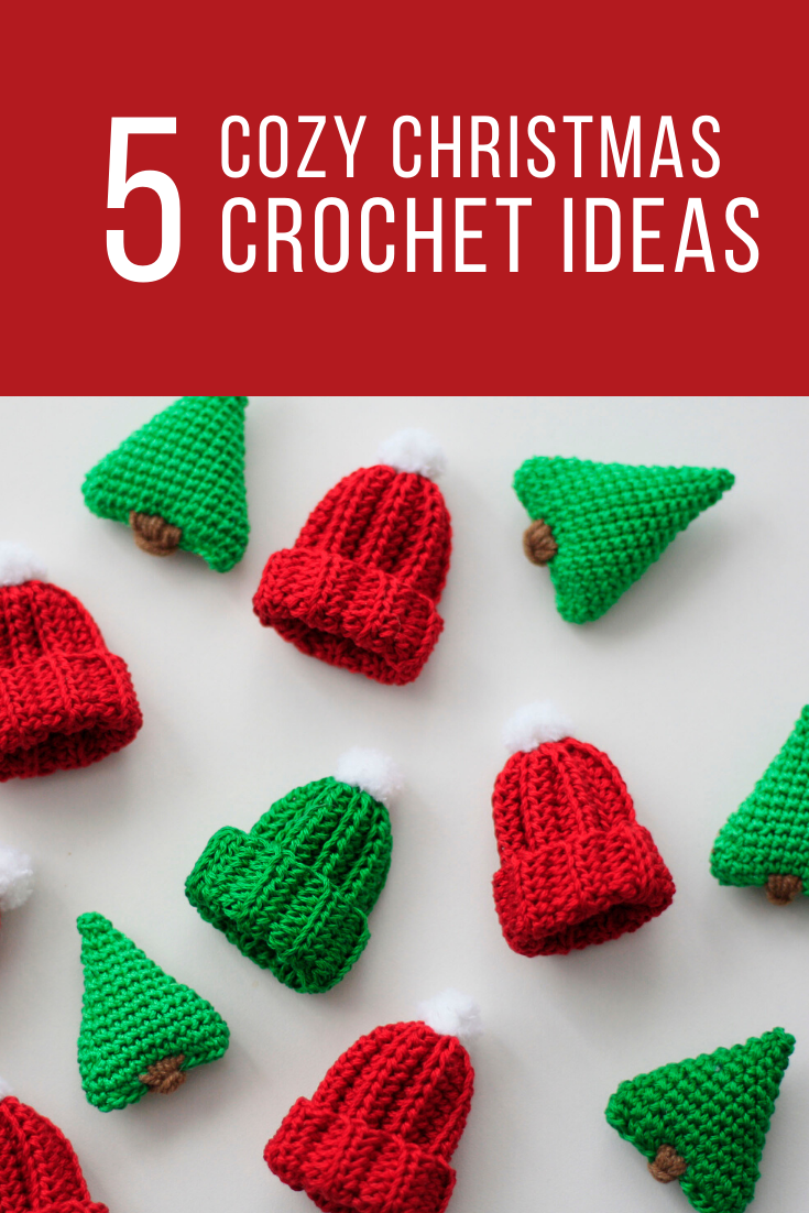 CROCHET PATTERN christmas Garland - crochet hat, mitten, tree, sock - PDF pattern