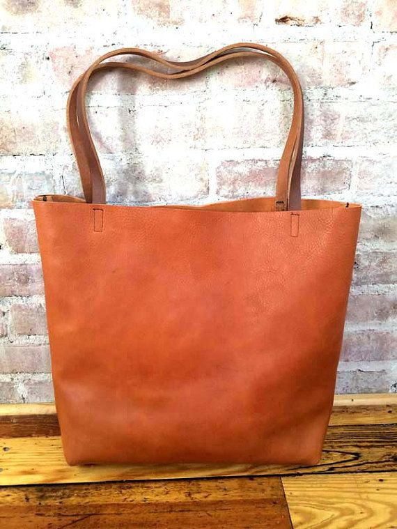6653757a Huge Sale -sale - Brown Leather Tote Bag - camel brown ...