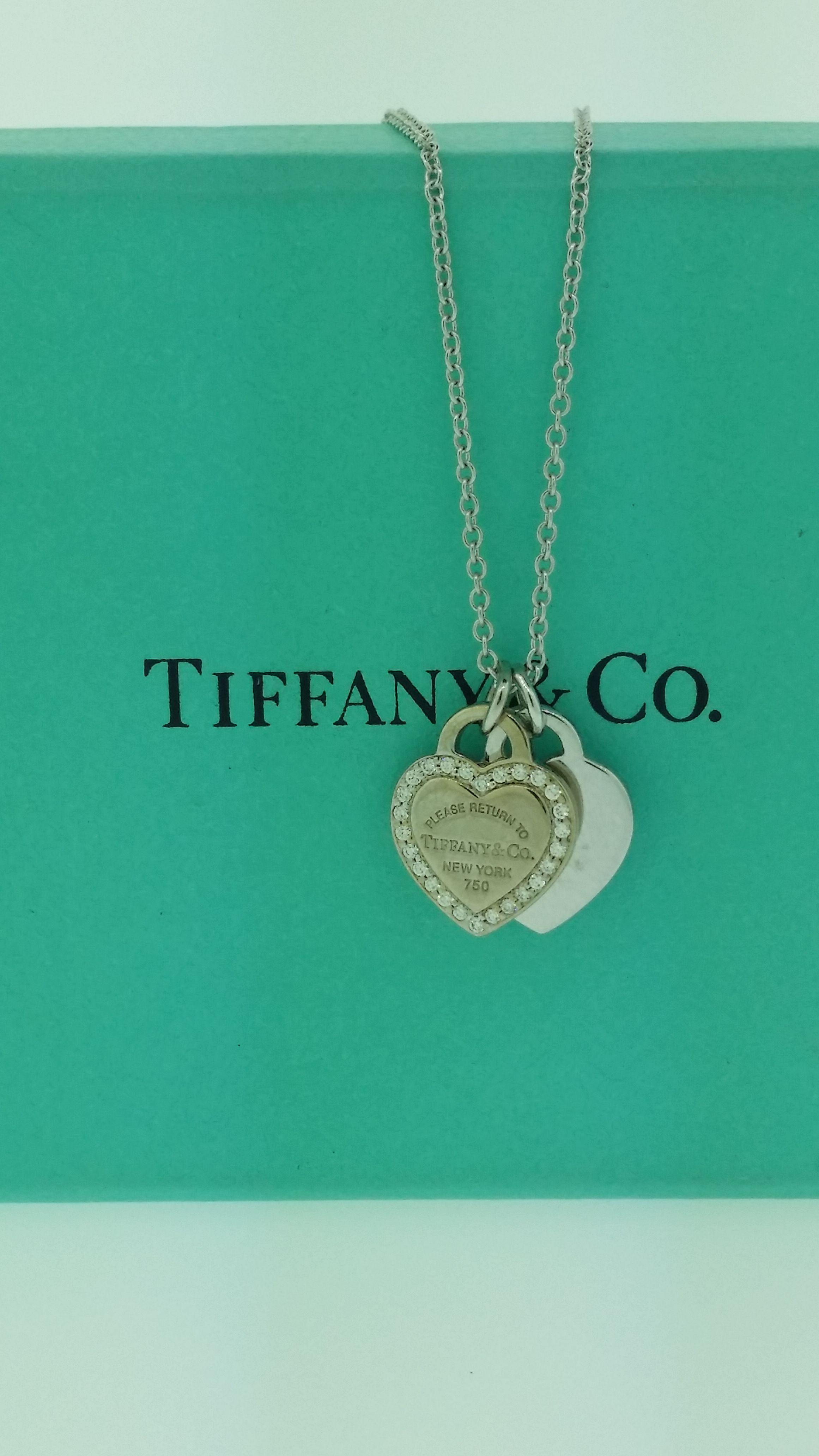 a37bfe8bc Tiffany & Co. Double Heart Tag Pendant