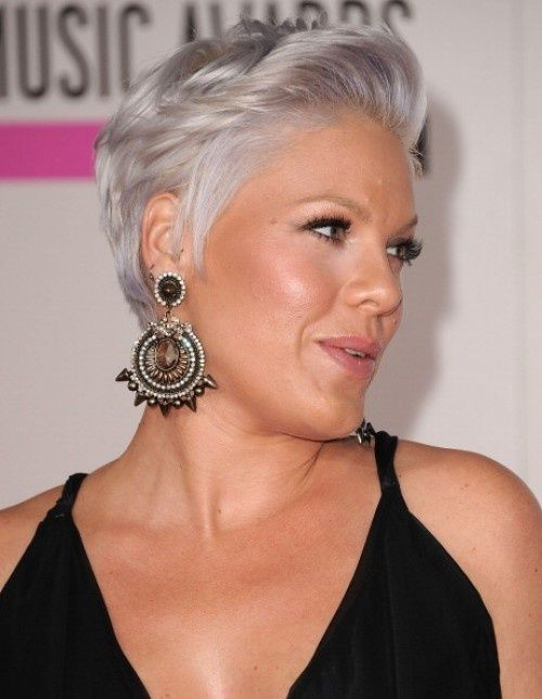 Singer Pink In Gray Hair Pink Pinterest Silver Hair Color Short Grey Hair Short Hair Styles