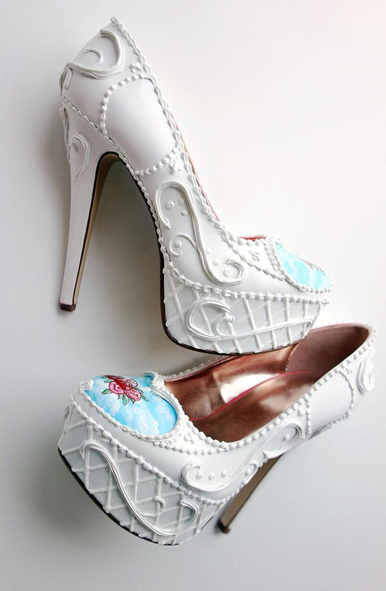 Sweet cake shoes by the Shoe Bakery