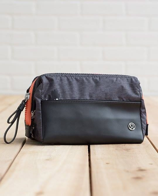 Compact size and full of separate compartments for your toiletries and makeup. Great for gym or travelling. Lululemon mind-body-kit