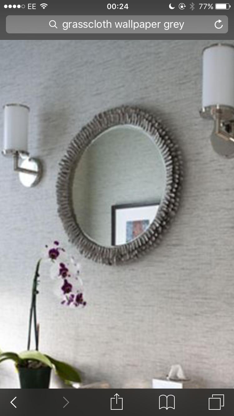 Grasscloth wallpaper grey Amazing bathrooms