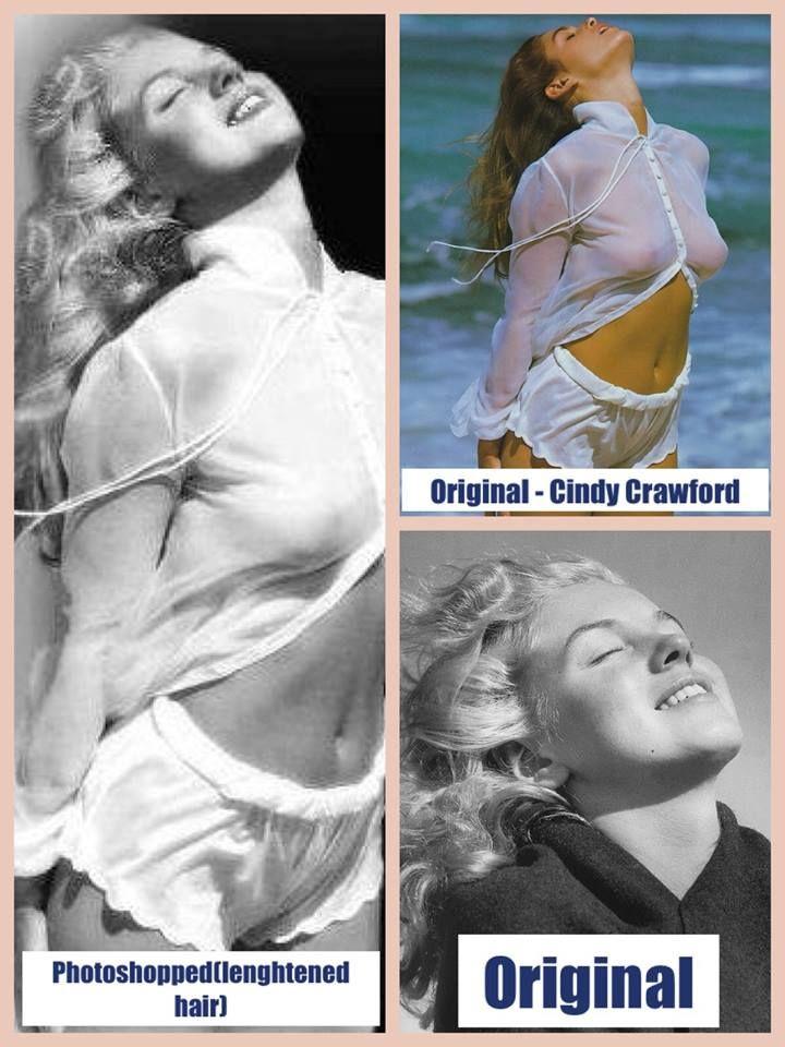 Cindy Crawford/Marilyn mash up