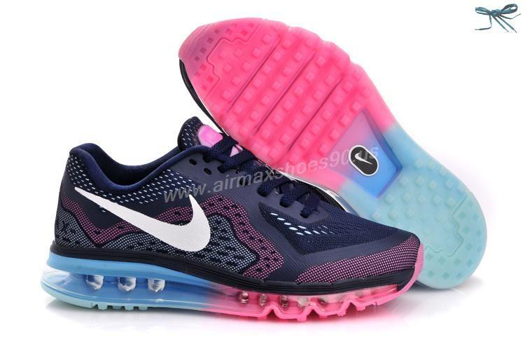 2ee0811146761 Womens Nike Air Max 2014 621078-415 Deep Blue Jade Peach Shoes   Air ...