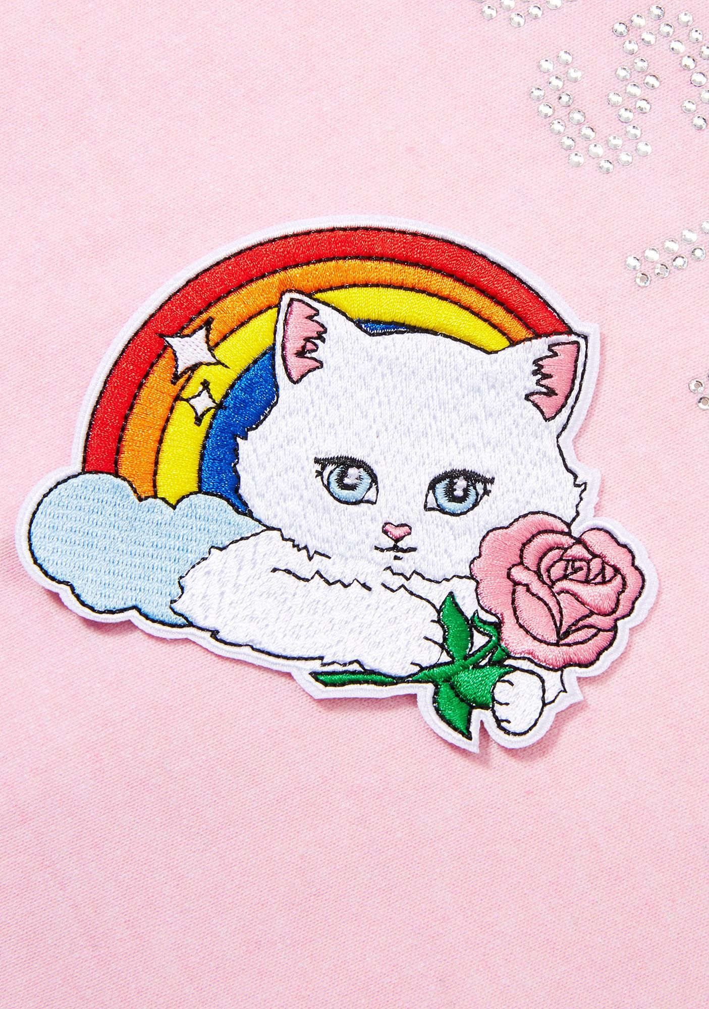 Rainbow Kitty Patch Laser kitten, Cute patches, Patches