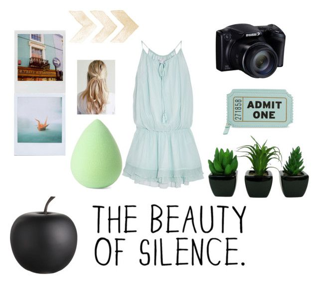 """""""Gigi"""" by catalinaavchin ❤ liked on Polyvore featuring Elizabeth and James, Polaroid, CB2, Kate Spade and Earth Therapeutics"""