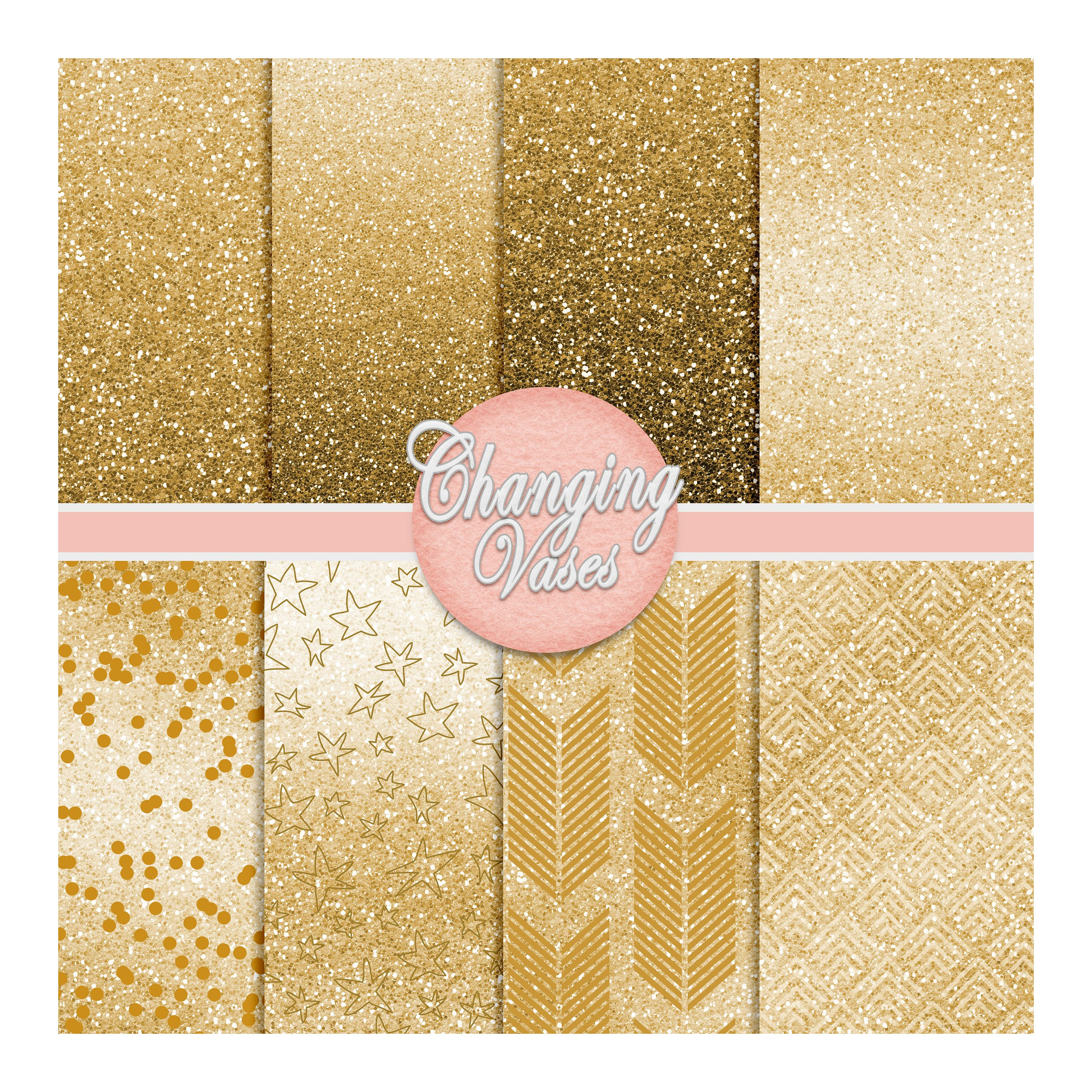 Digital Scrapbook Paper Pack Golden Glitter, Gold Glitter Pattern, Instant Download Graphic Texture, Clipart Clip Art, Photo Background