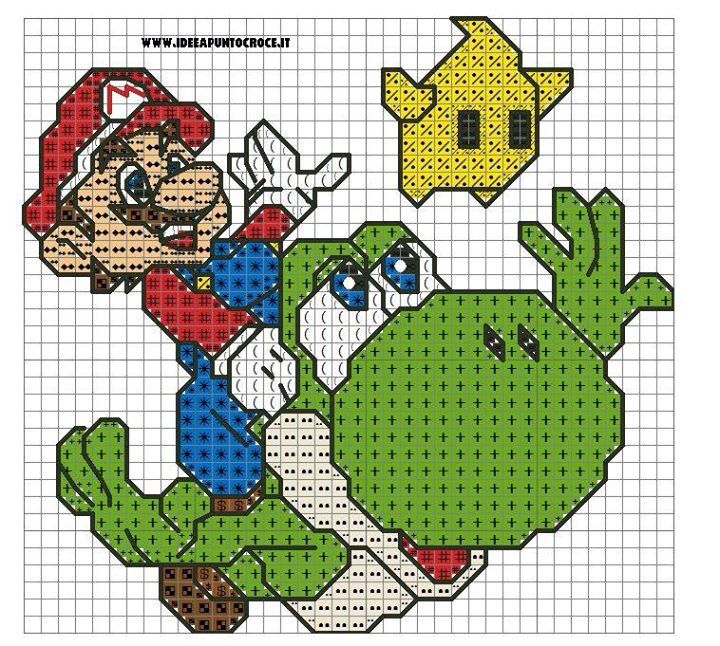 Supermario | Cross stitch | Pinterest | Mario, Punto de cruz y Puntos