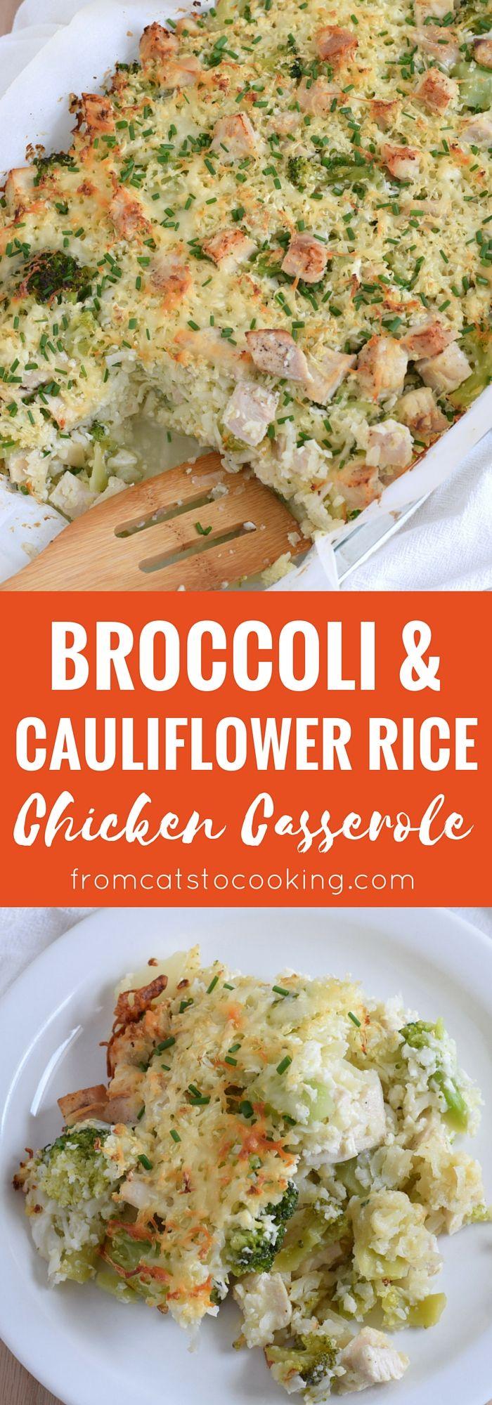 Broccoli Cauliflower Rice Chicken Casserole  Recipe -5227