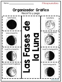 Phases of the Moon Activities IN SPANISH for K-2