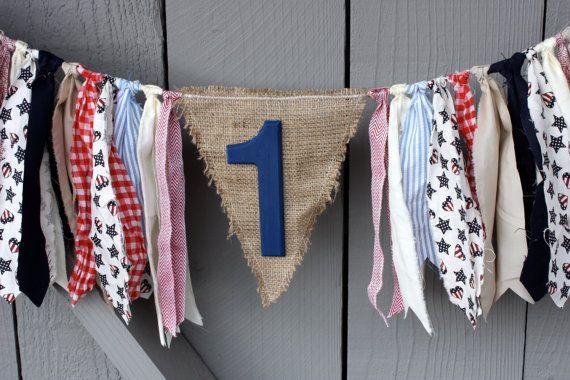 FLASH SALE First Birthday Highchair Banner Fabric by ...