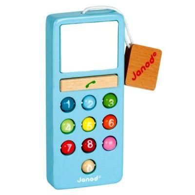 Téléphone en bois Mobilo Sonore I Wood : Bleu - Janod-J05342B