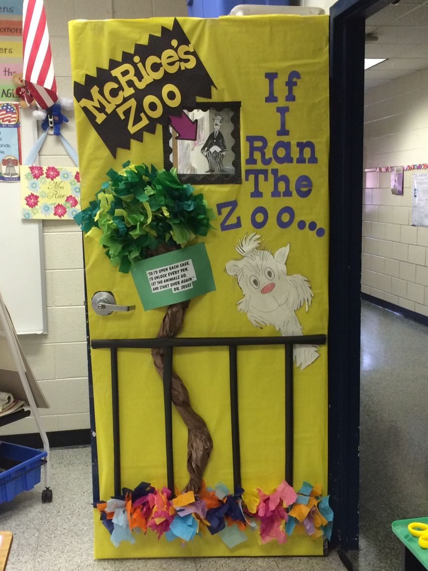 Classroom Zoo Ideas ~ Dr suess if i ran the zoo door decoration miss kelsey s