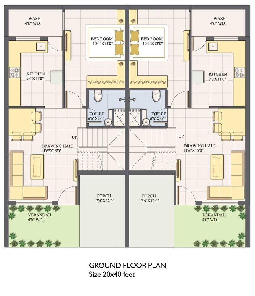 East Facing House Vastu Plan 20 X 40 House Plans 800 Square Feet 20x40 House Plans 2bhk House Plan 20x30 House Plans