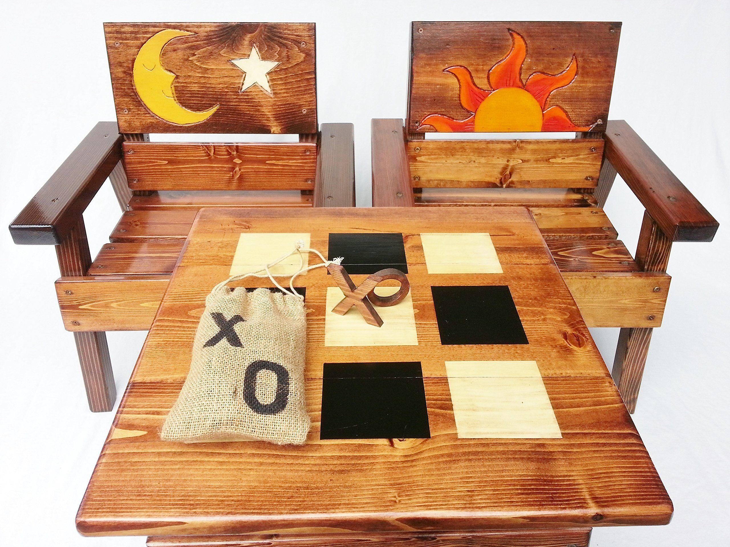 Kids Wood Table And Chair Set Indoor Outdoor Furniture Boy Or  # Muebles Tic Toc