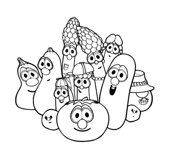 Veggie Tales Characters Larry Boy And Friends Coloring Pages
