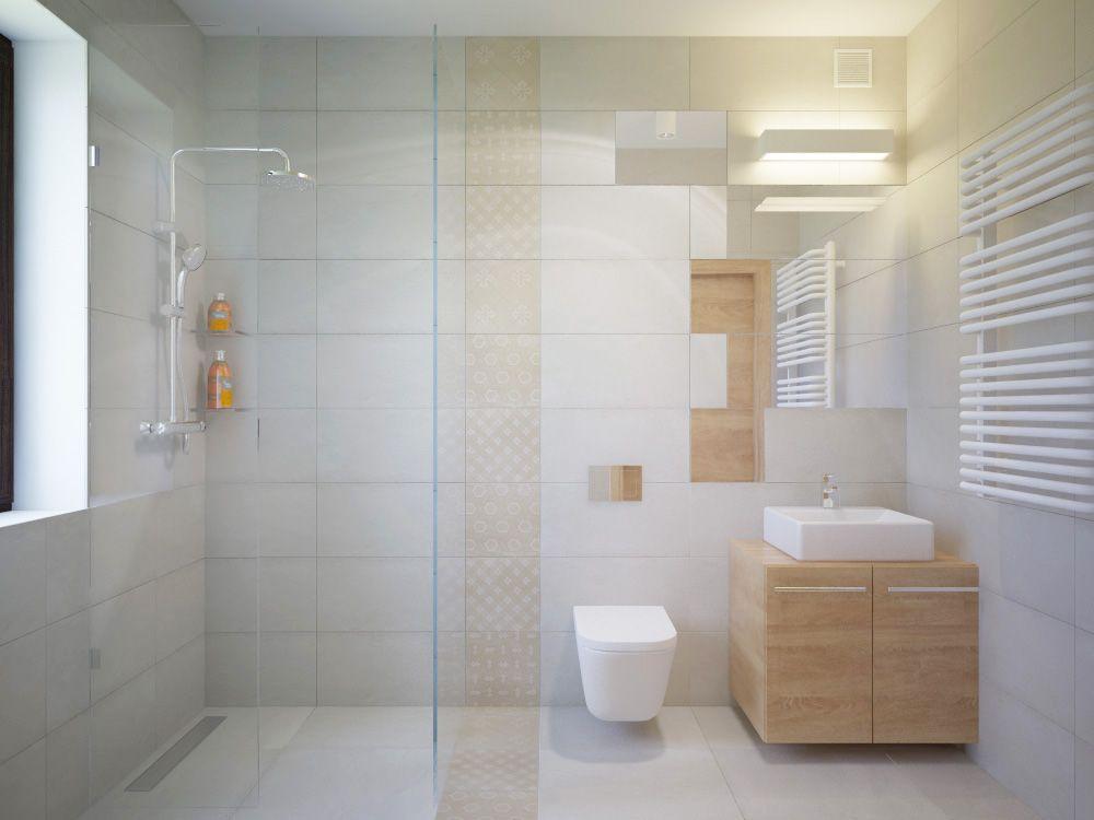 Wykonanie łazienki Wg Projektu Układanie Płytek Mozaika Na