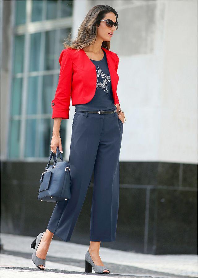 Szerokie Spodnie 7 8 Szeroki Fason Z 79 99 Zl Bonprix Fashion Style Chic