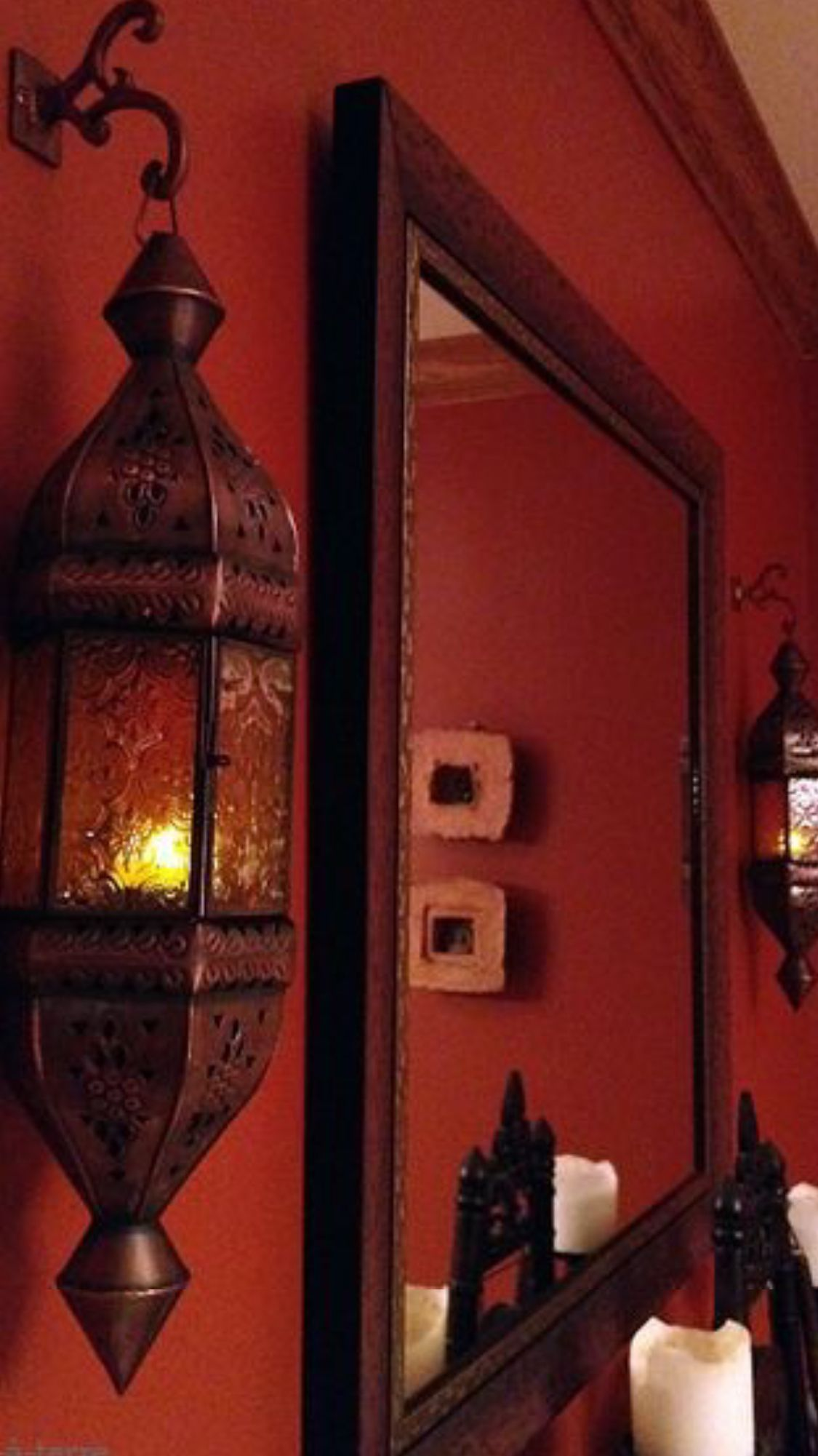 Cinnabar Coloured Interiors Luxurydotcom Moroccan Design Moroccan Decor Bedroom Red