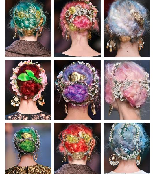 Dolce Gabbana Ss14 Hair Colors Art Nouveau Fashion Hair Pastel Hair