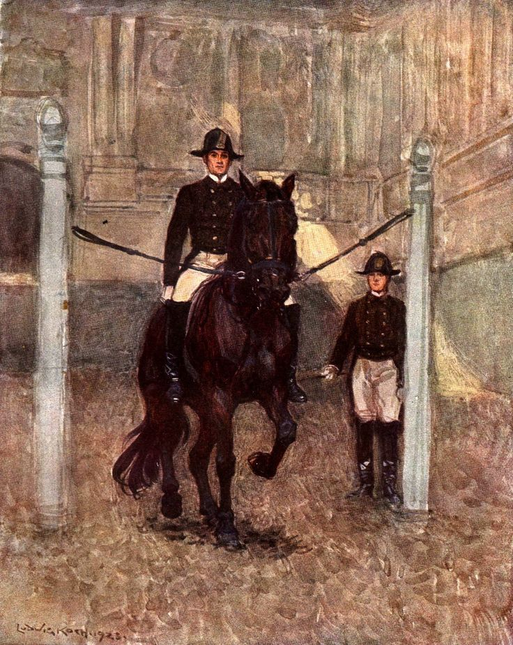 Piaffe    Spanish Riding School Vienna illustratio