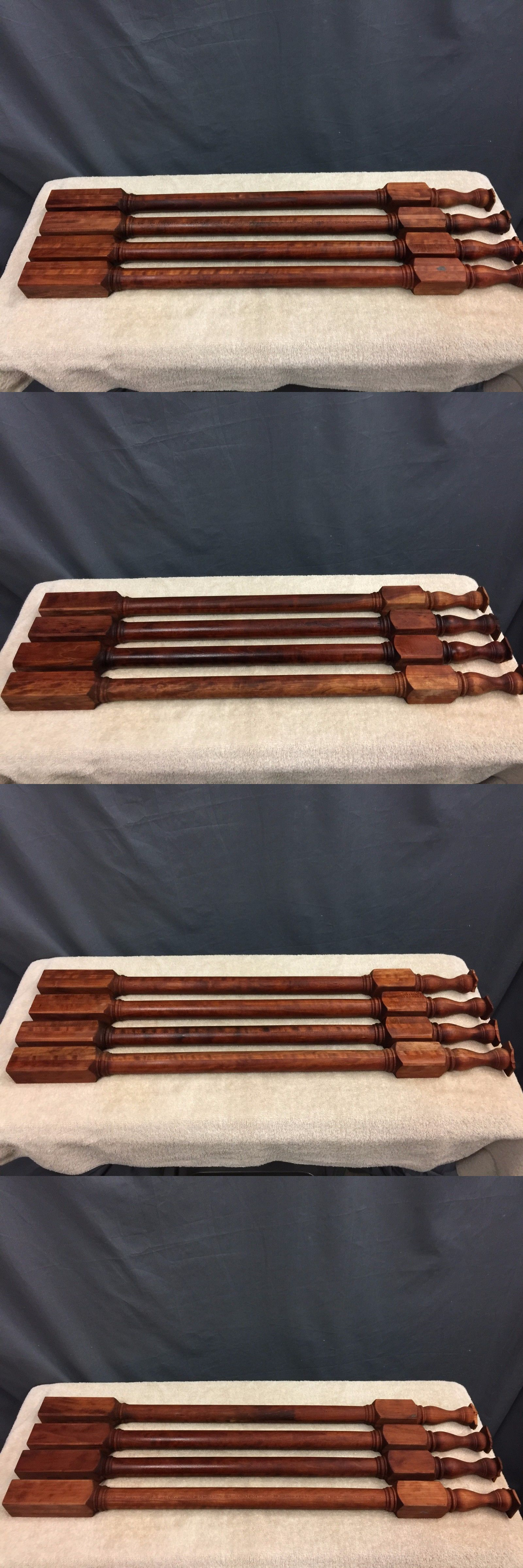 Furniture Parts And Accessories 179690: Set 4 Cherry Table Legs 33X2 Inches  Sanded And Stained