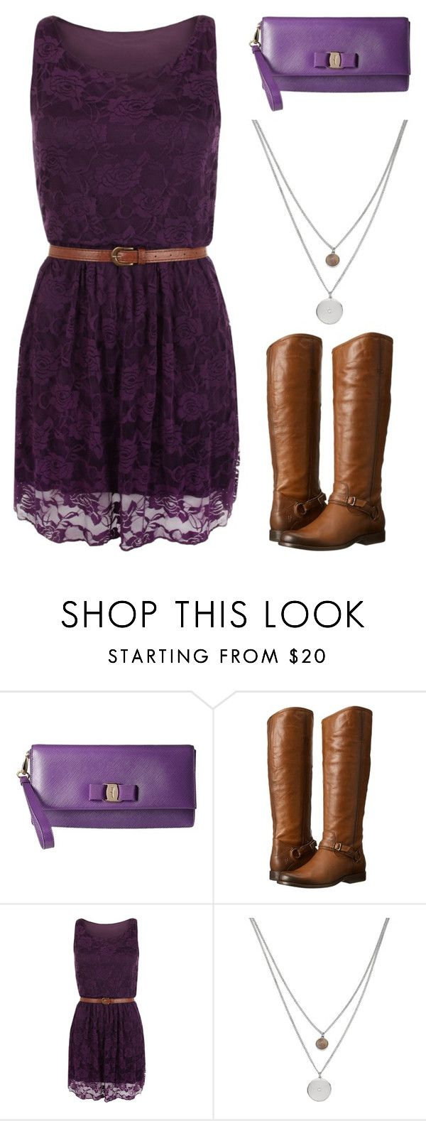 """""""Outfit Idea by Polyvore Remix"""" by polyvore-remix ❤ liked on Polyvore featuring Salvatore Ferragamo, Frye, WearAll and Kenneth Cole"""
