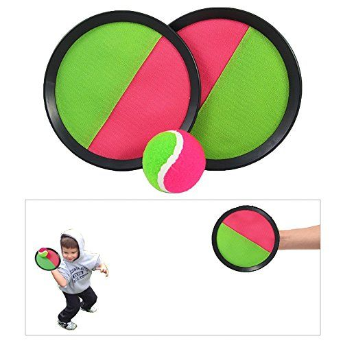 """Toy CubbyVelcro ball Paddle Catch and Toss Game Set- 7"""" Handheld Stick Disc - 1 Set - http://toys-games.wegetmore.com/toy-cubbyvelcro-ball-paddle-catch-and-toss-game-set-7-handheld-stick-disc-1-set/"""