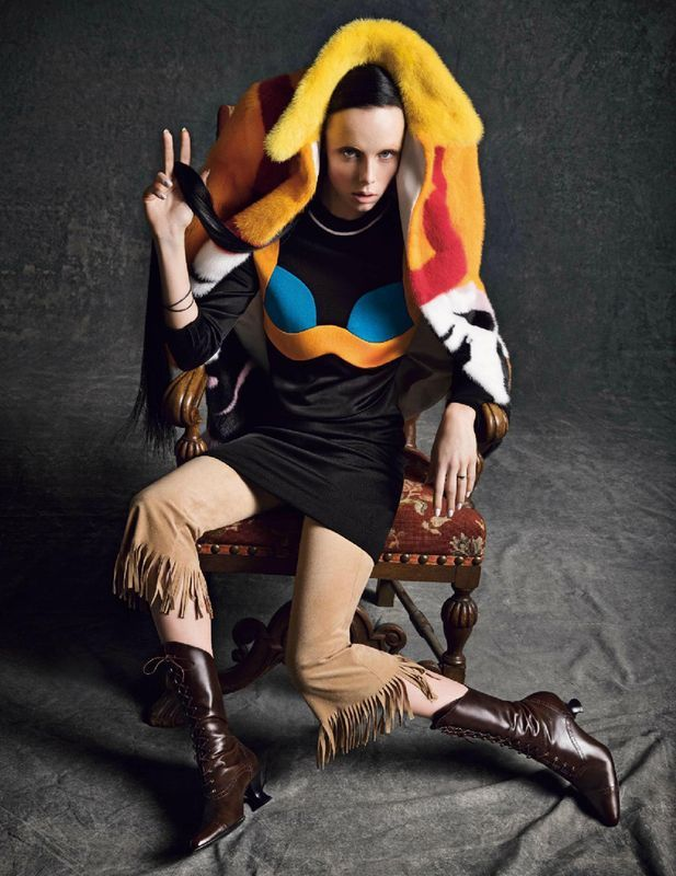 Edie Campbell by Inez & Vinoodh for Vogue Paris March 2014