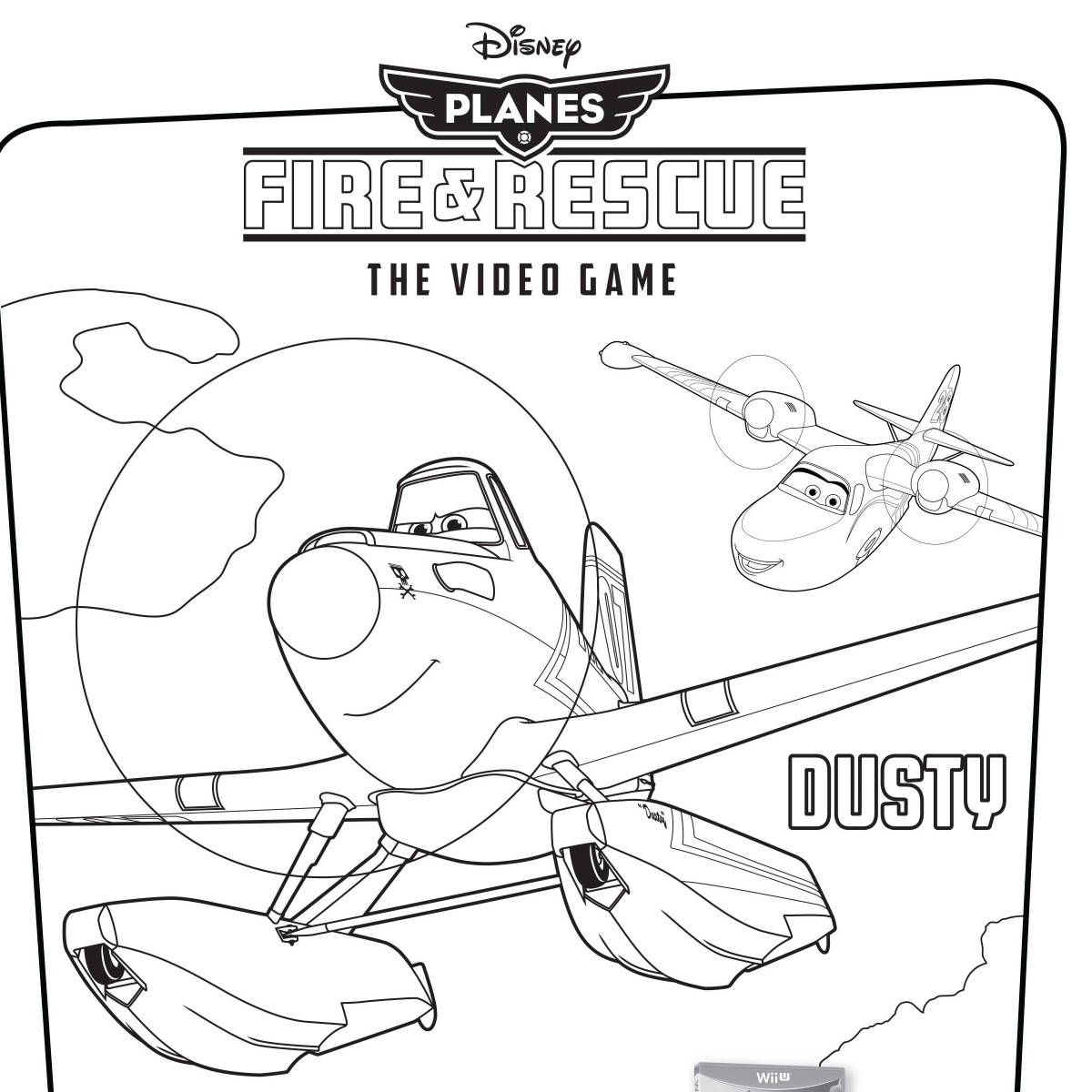 disneys planes fire rescue video game coloring pages - Interactive Coloring Pages Disney