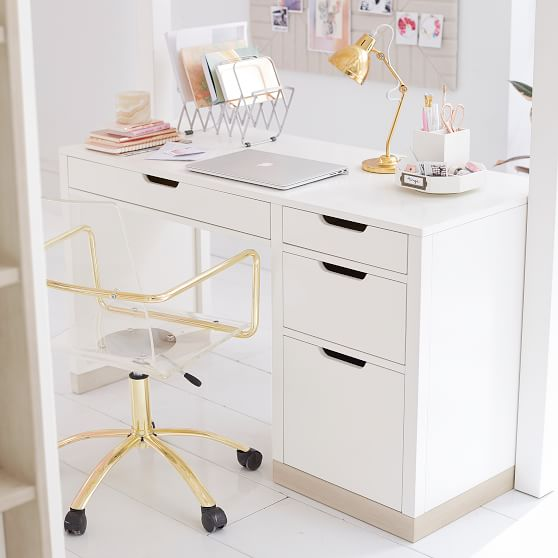 Small White Desk With Drawers For Bedroom